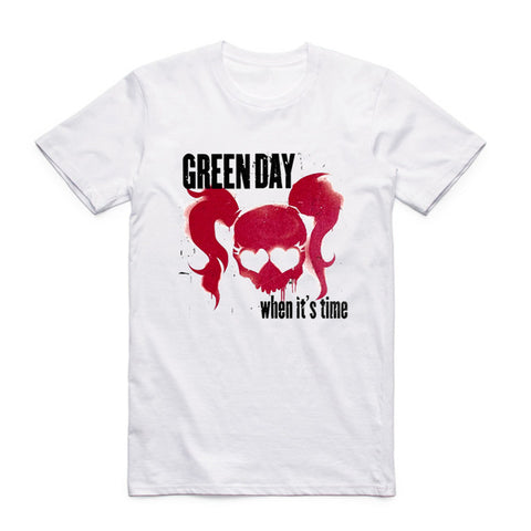 t shirt green day when its time
