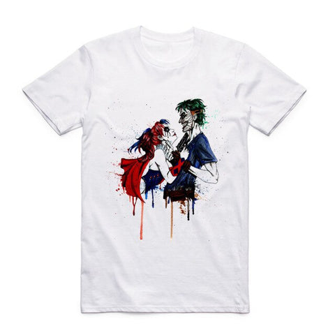 t shirt suicide squad harley quinn joker graphic