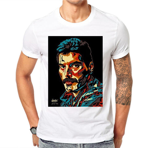 t shirt freddie mercury portrait art