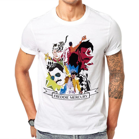 t shirt freddie mercury tribute graphic