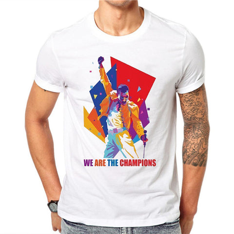 t shirt freddie mercury we are the champions