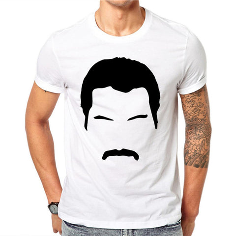 freddie mercury t shirt face art