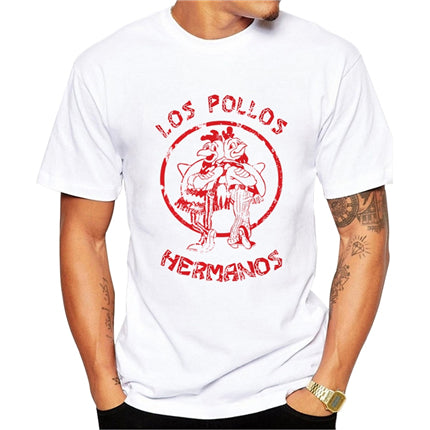 t shirt los pollos hermanos breaking bad red logo