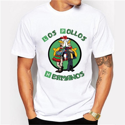 t shirt los pollos hermanos breaking bad parody