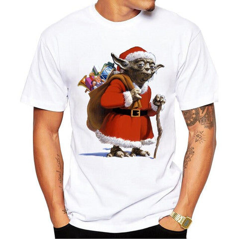 t shirt star wars santa yoda