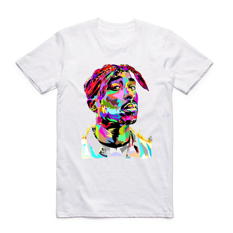 t shirt 2pac face art