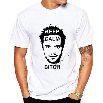 t shirt breaking bad jesse keep calm bitch print