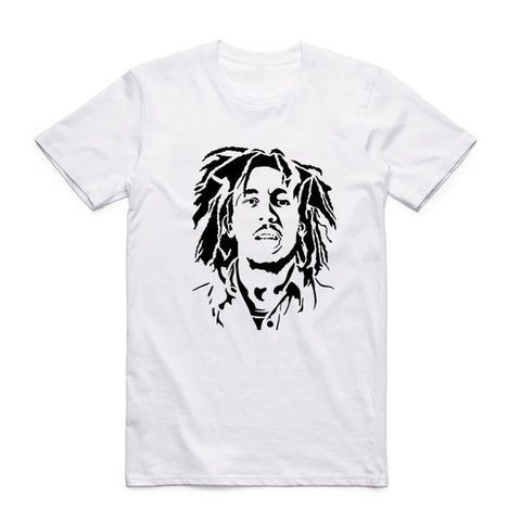 tee shirt bob marley portrait art