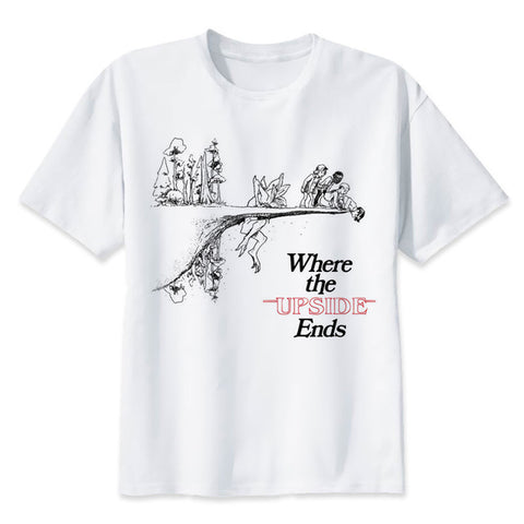 stranger things tee shirt where the upside ends