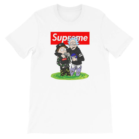t shirt rick et morty supreme