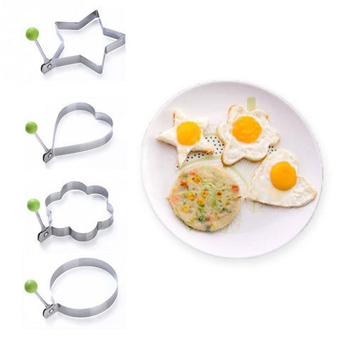4 Pcs Stainless Steel Fried Egg Mold