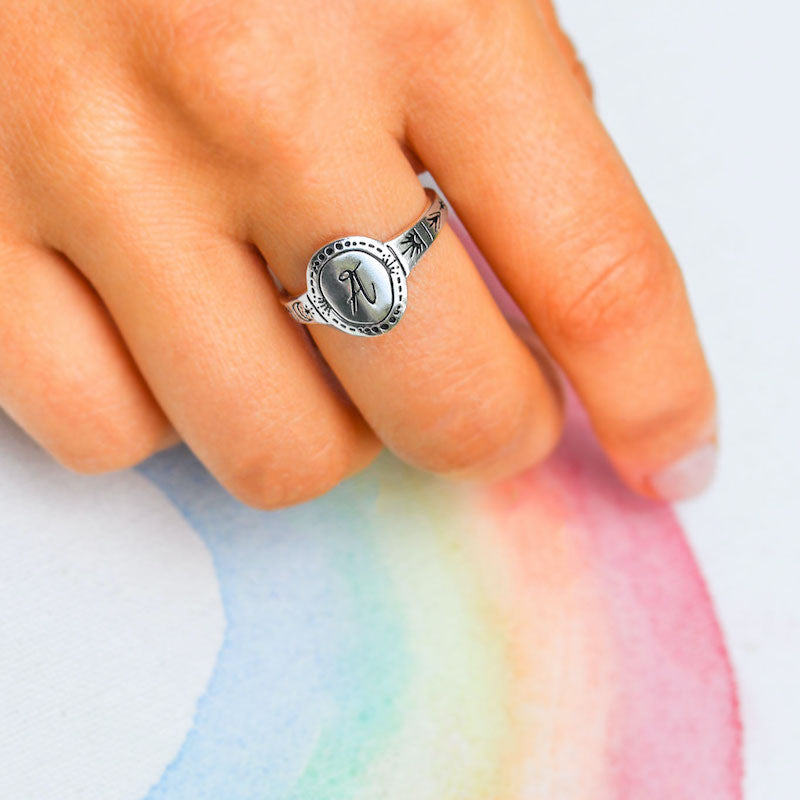 Signet Initial Ring A-M