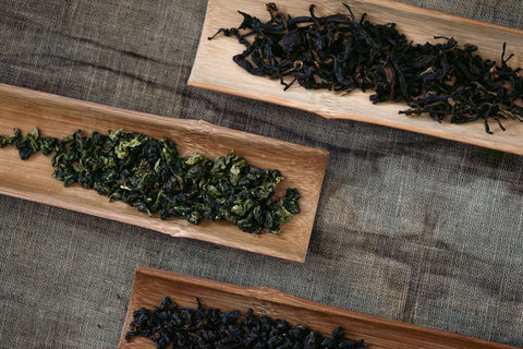Three types of tieguanyin oolong tea leaves | Plantation by teakha