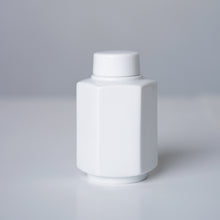 Load image into Gallery viewer, White Ceramic Canister - Hexagonal