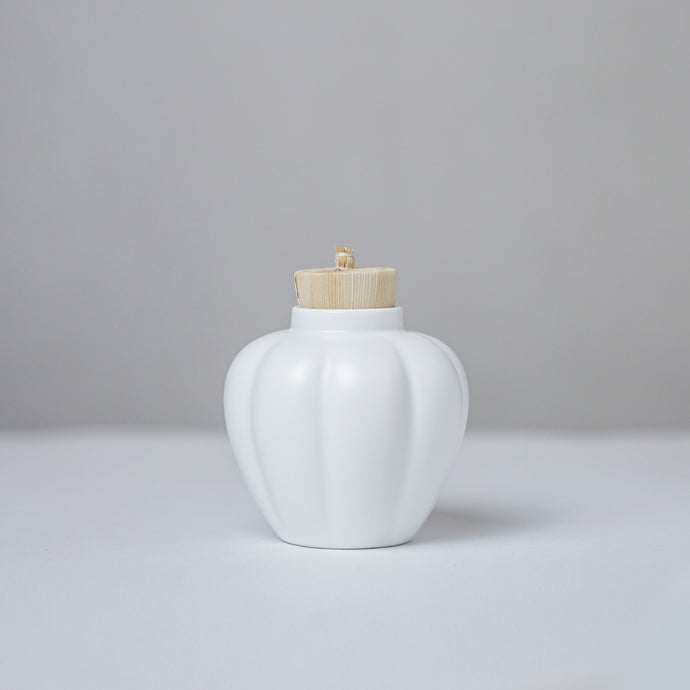 White Ceramic Canister -  White Pumpkin