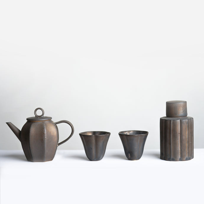 Bronze Ash Teapot Set
