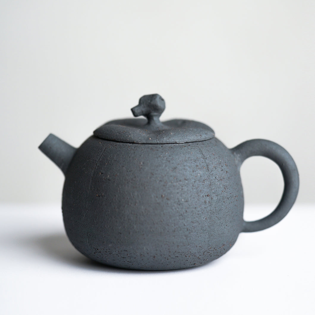 Pumpkin Clay Teapot
