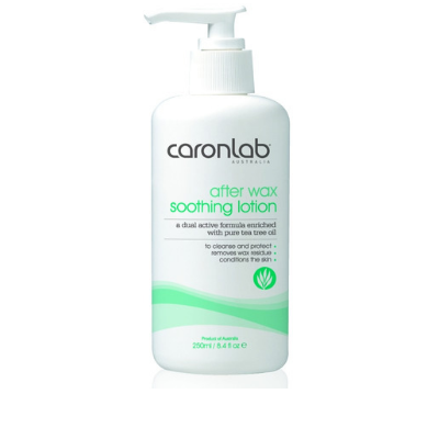 Caronlab After Wax Soothing Lotion Tea Tree 250ml - Revolution Nail Supplies