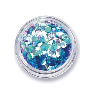 Amy G Iridescent Nail Art Sequins Aqua - Revolution Nail Supplies