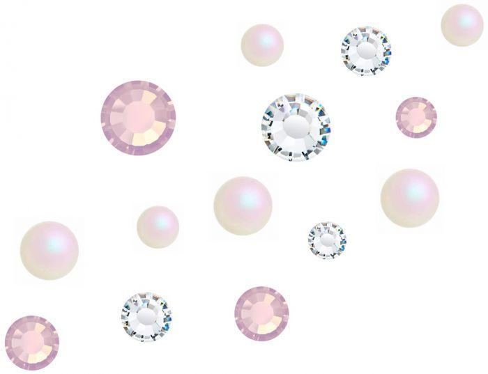 Preciosa Crystal and Pearl Mix - Candyfloss Pack of 400