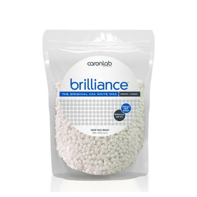 Caronlab Brilliance Hard Wax Beads - The Original XXX White Wax 1kg - Revolution Nail Supplies