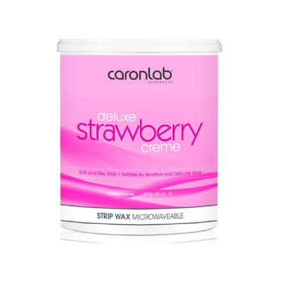 Caronlab Strawberry Creme Strip Wax 800g - Microwaveable - Revolution Nail Supplies