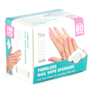 The Edge Fibreless Nail Wipe Sponges Pack of 80 - Revolution Nail Supplies