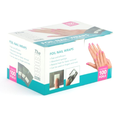 The Edge Foil Nail Wraps Pack of 100