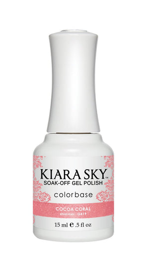 Kiara Sky Gel Polish Cocoa Coral 15ml - Revolution Nail Supplies