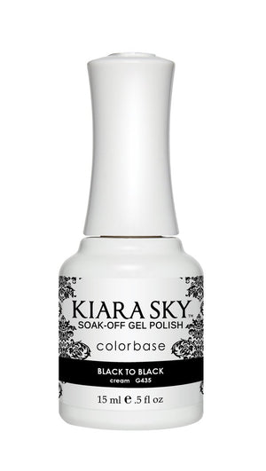 Kiara Sky Gel Polish Black to Black 15ml - Revolution Nail Supplies