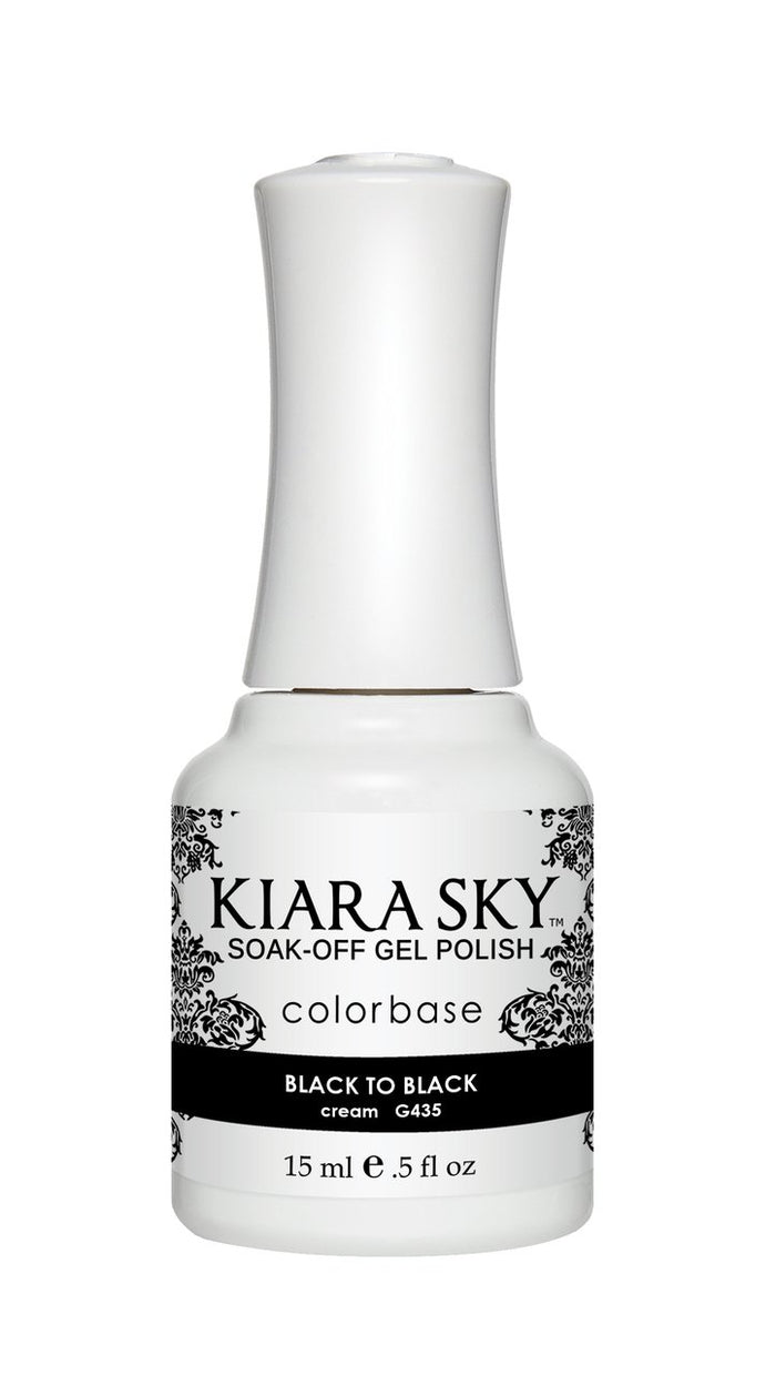 Kiara Sky Gel Polish Black to Black 15ml