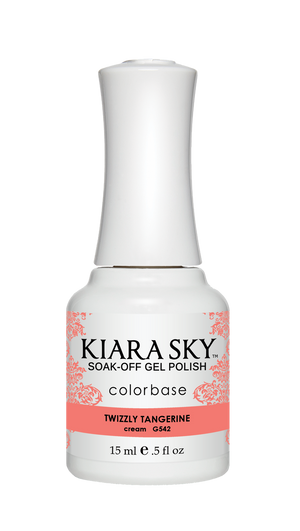 Kiara Sky Gel Polish Twizzly Tangerine 15ml - Revolution Nail Supplies