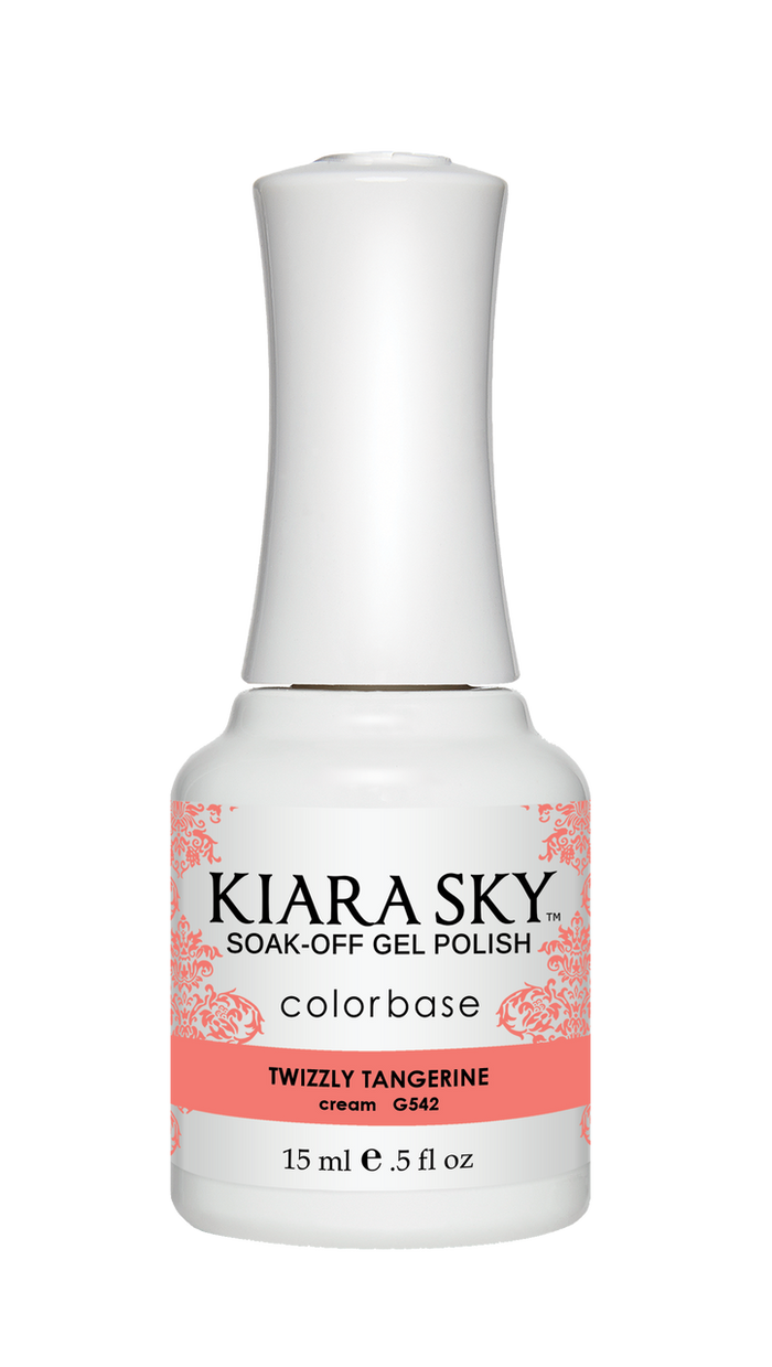 Kiara Sky Gel Polish Twizzly Tangerine 15ml