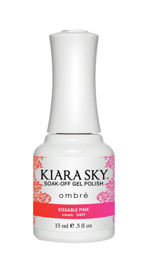 Kiara Sky Gel Polish Ombre Kissable Pink 15ml - Revolution Nail Supplies
