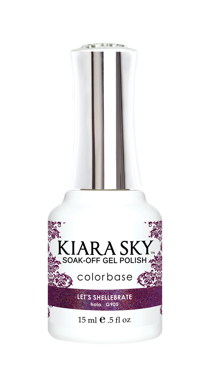 Kiara Sky Gel Polish Hologram Mermaid Let's Shellebrate 15ml - Revolution Nail Supplies