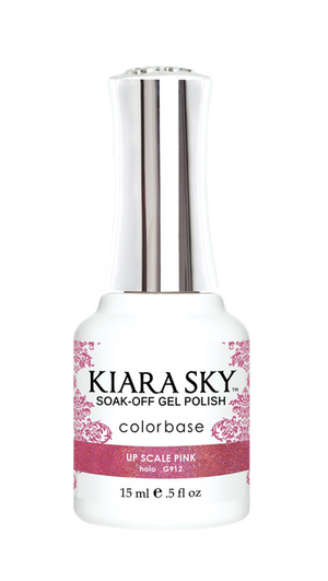 Kiara Sky Gel Polish Hologram Up Scale Pink 15ml - Revolution Nail Supplies