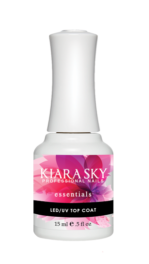 Kiara Sky Gel Polish Essentials LED UV Top Coat 15ml - Revolution Nail Supplies