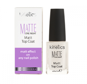 Kinetics Matte One Night Top Coat 15ml - Revolution Nail Supplies
