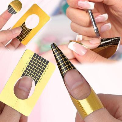 Nail Forms Gold Pack of 100 - Revolution Nail Supplies
