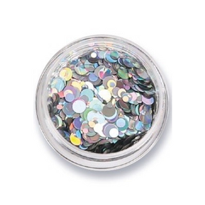 Amy G Nail Art Sequins Iridescent Silver - Revolution Nail Supplies
