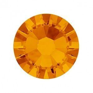 Swarovski Shimmer Crystals Mixed Sizes - Tangerine Shimmer Pack of 200
