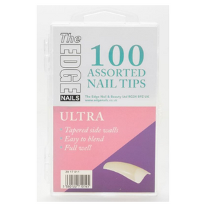 The Edge Ultra Nail Tips Assorted Pack of 100 - Revolution Nail Supplies