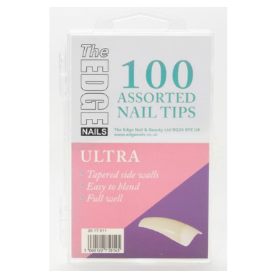 The Edge Ultra Nail Tips Assorted Pack of 100