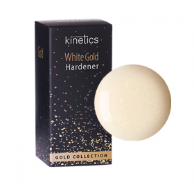 Kinetics Nail Hardener White Gold 15 ml - Revolution Nail Supplies