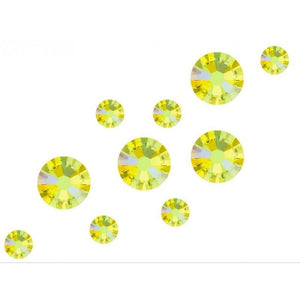 Swarovski Shimmer Crystals Mixed Sizes - Citrine Shimmer Pack of 200 - Revolution Nail Supplies