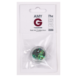 Amy G Nail Art Sequins Emerald Green - Revolution Nail Supplies
