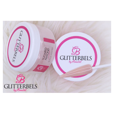 Glitterbels Acrylic Powder Sugared Almond 50g - Revolution Nail Supplies