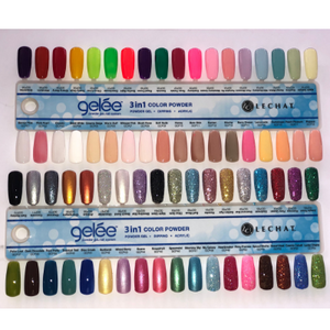 LeChat Gelee 3in1 Colour Powder Swatch Palette - Revolution Nail Supplies