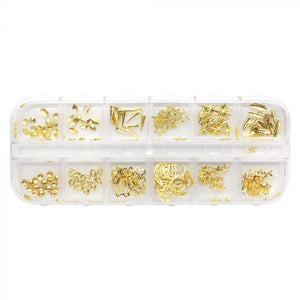 Nail Charms Gold Metal Studs Pack of 240 - Revolution Nail Supplies