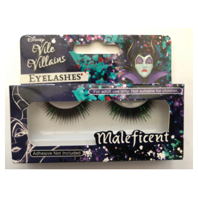 Disney Vile Villains Maleficent Glitter Eyelashes - Revolution Nail Supplies